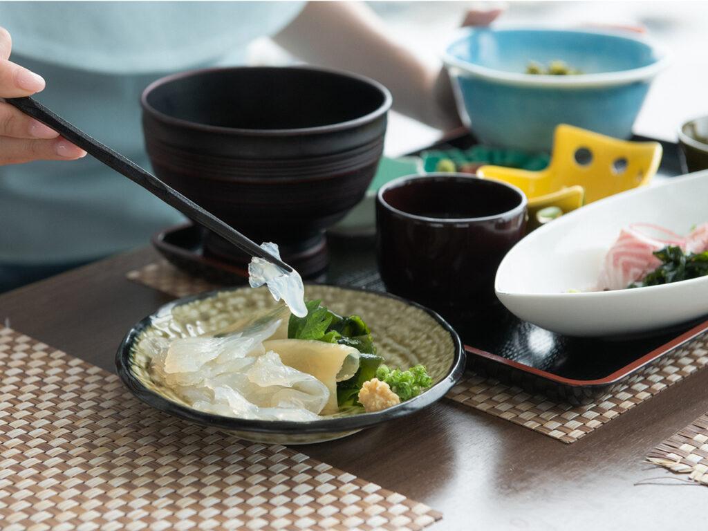 加茂水族館でクラゲ料理